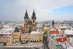 Prague. Fabulous colorful Prague in winter Royalty Free Stock Photography