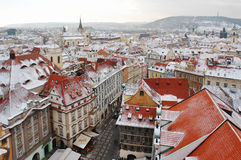 Prague. Fabulous colorful Prague in winter Stock Photography
