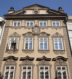 Prague - facade of baroque house Stock Photo