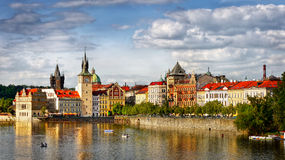 Famous Prague, Travel Czech Republic. Famous Prague City - Picturesque The Old Town scenery Royalty Free Stock Photos