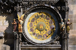 Prague famous sights - Astronomical clock detail Stock Photo
