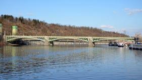 PRAGUE - FEB 23: Svatopluk Cech Bridge. In Prague. February 23, 2014 Royalty Free Stock Photos