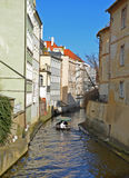 PRAGUE - FEB 23: Water channel Certovka in Prague Royalty Free Stock Image