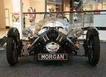 PRAGUE - FEBRUARI 13: Morgan 3-Wheeler. Februari 13, 2013 Arkivfoton