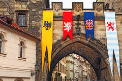 Prague festival decoration Stock Images