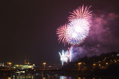 Prague firework Stock Images
