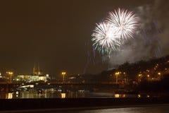 Prague firework Stock Images