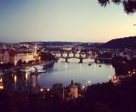 Prague flod Royaltyfri Fotografi