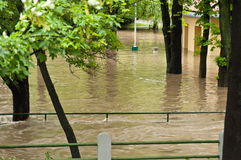 Prague flood June 2013 Royalty Free Stock Images