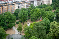 Prague flood June 2013 Stock Photography