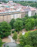 Prague flood June 2013 Stock Images
