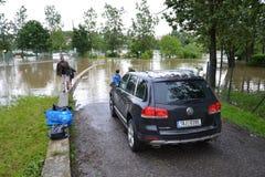 Prague floods Royalty Free Stock Image