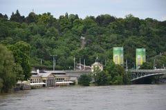 Prague floods Stock Photo