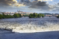 Prague during the floods in 2013 Stock Photo