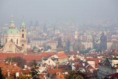 Prague foggy view Stock Photography