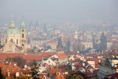 Prague foggy view stock photography