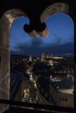 Prague från pulvertornet Arkivbilder