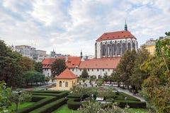 Prague Franciscan garden Panny Marie Snezne Stock Image