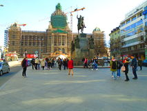 Prague full of people and tourists Royalty Free Stock Photography