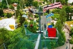 Prague funicular ropeway. At the park Royalty Free Stock Image