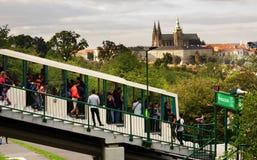 Prague funicular Royalty Free Stock Photo