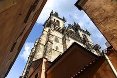 Prague fyrkant Arkivfoto