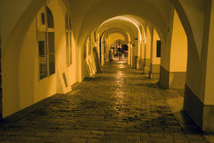 Prague - gallery in the night Royalty Free Stock Photography