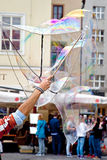 Prague, game with soap bubbles Stock Photo