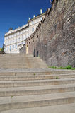 Prague - gammal slotttrappa Royaltyfri Foto