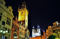 Prague gammal stad, Tjeckien Arkivbilder