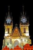 Prague gammal stadkyrka, Tjeckien Fotografering för Bildbyråer