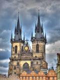 Prague gammal stadkyrka, Tjeckien Royaltyfri Bild