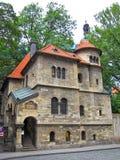 Prague gammal synagoga, Tjeckien Royaltyfri Bild