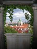 Prague gardens. View from Prague gardens royalty free stock image