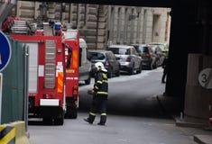 Prague gasexplosion på 29th April 2013 Royaltyfri Foto