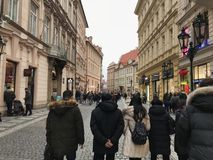 prague gata Royaltyfri Bild