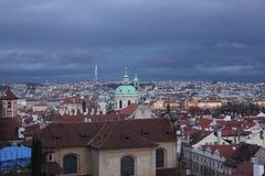 Prague gata Arkivfoton
