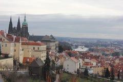 Prague gata Royaltyfri Foto
