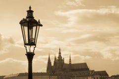 Prague gatalampa Royaltyfri Foto
