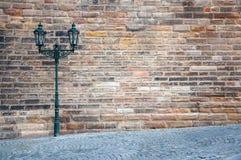 Prague gatalykta Arkivfoto