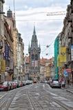 Prague gator Arkivbilder