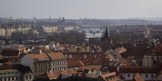Prague - a general view of the old part of the city.  Stock Images