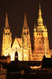 Prague gothic Castle in the Night Royalty Free Stock Images
