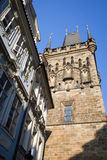Prague - gothic tower Stock Images