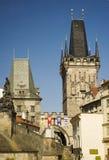 Prague gothic towers royalty free stock image