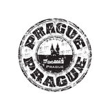 Prague grunge rubber stamp Stock Photography