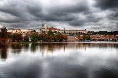 Prague höst Arkivbild