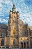 Prague helgon Vitus Cathedral Arkivfoton