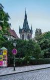 Prague, Henry Tower, Praha, ¾ du› Å de vÄ de ¡ de skà de ¡ de JindÅ™iÅ images stock