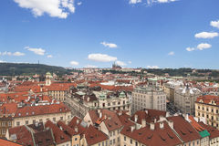 Prague from high angle view Royalty Free Stock Photo